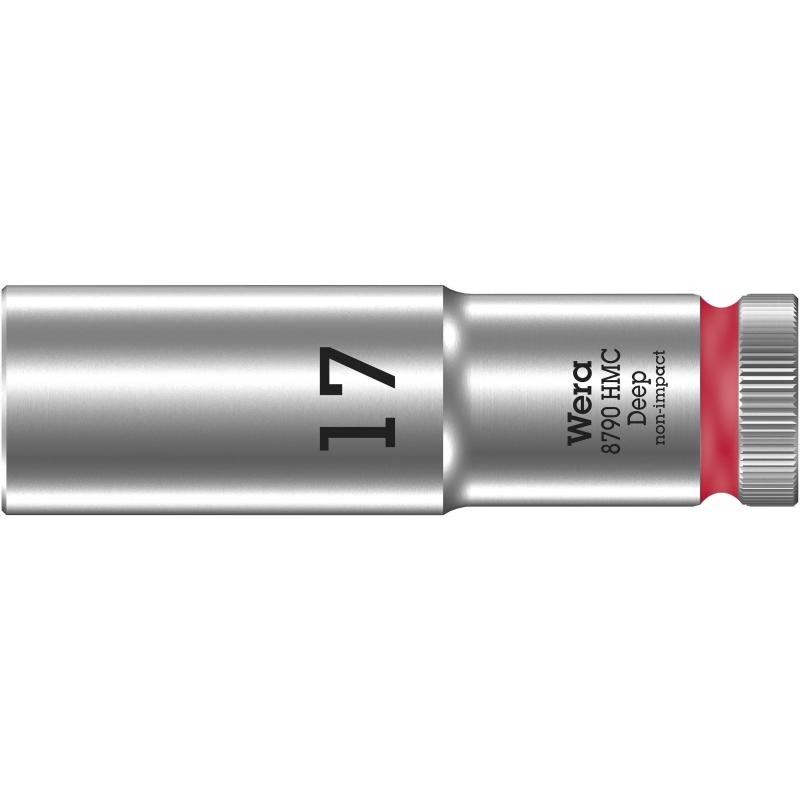 """WERA 8790 HMC Lange Dop 17.0 x83.0 mm- """"Deep Socket""""-1/2""""-aandrijving"""