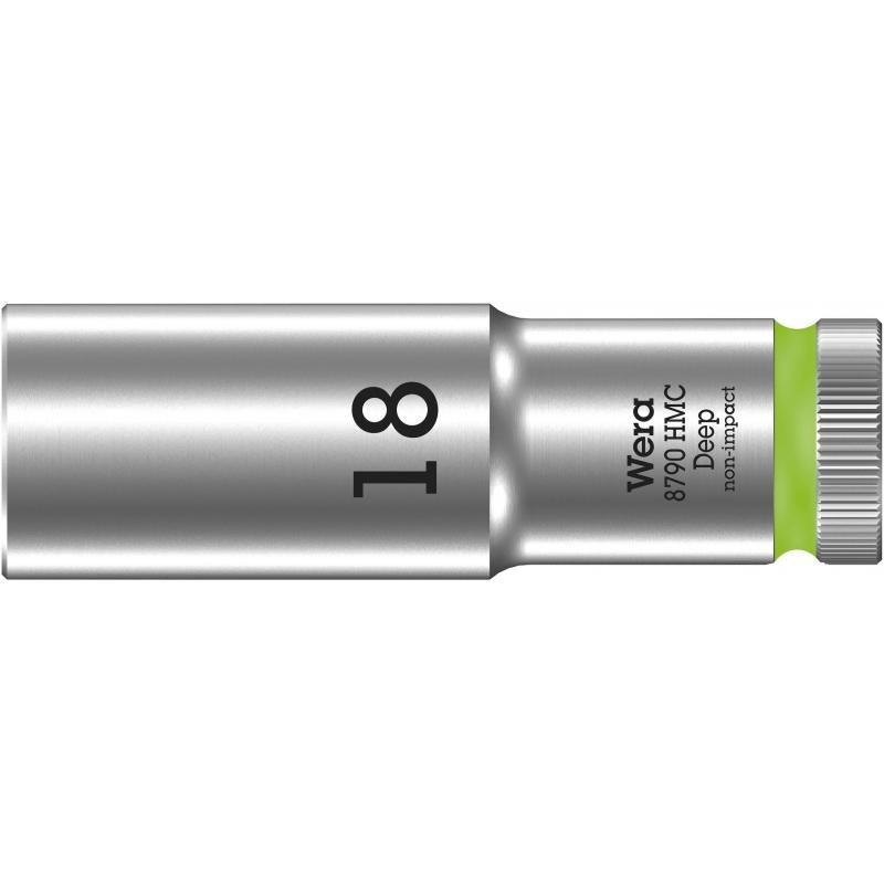 """WERA 8790 HMC Lange Dop 18.0 x83.0 mm- """"Deep Socket""""-1/2""""-aandrijving"""