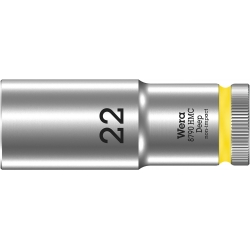 """WERA 8790 HMC Lange Dop 22.0 x83.0 mm- """"Deep Socket""""-1/2""""-aandrijving"""