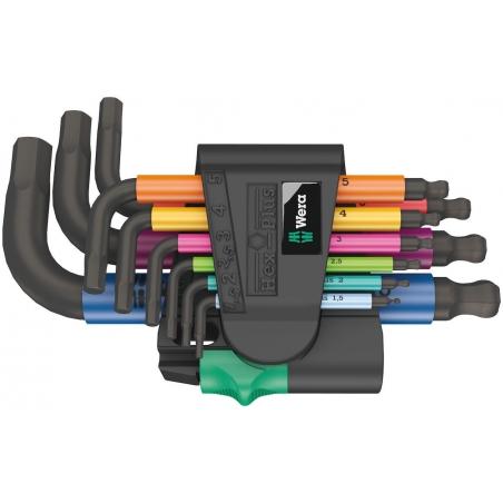WERA inbussleutelset 950 SPKS/9 SB Multicolour metrisch, BlackLaser