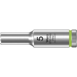 """WERA 8790 HMA Lange Dop 5.0x50.0 mm- """"Deep Socket""""-1/4""""-aandrijving"""
