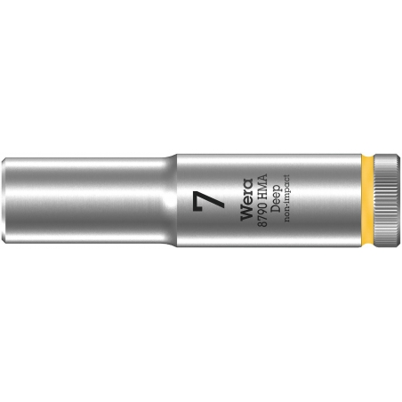 """WERA 8790 HMA Lange Dop 7.0x50.0 mm- """"Deep Socket""""-1/4""""-aandrijving"""