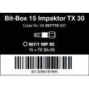 WERA TORX® TX30 867/1 IMP DC Impaktor in Bit-Box