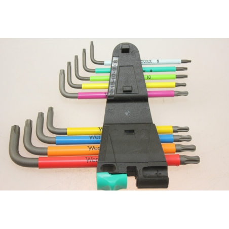 WERA TORX®-sleutelset BO SPKL/9 Multicolour