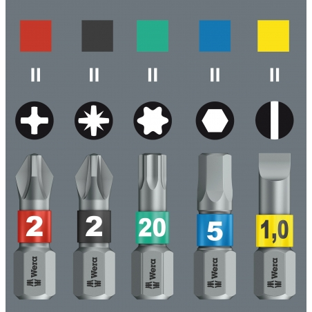 WERA Pozidriv PZ 2 IMPAKTOR 855/4 IMP DC / PZ 2 X 50 Kruis-bit