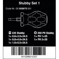 WERA Stubby set 1-Sleuf/Phillips
