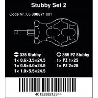 WERA Stubby set 2-Sleuf/Pozidrive