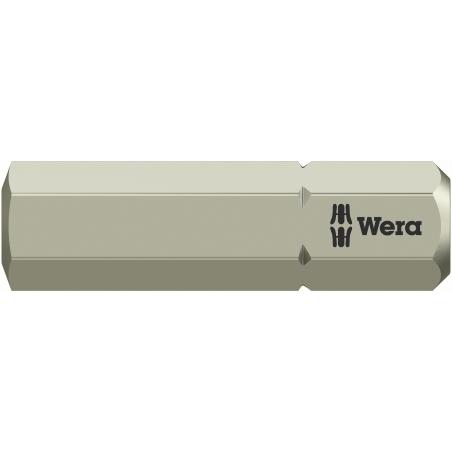 WERA zeskant(inbus) 6 mm RVS bit