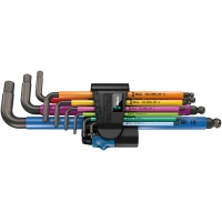 WERA 950 SPKL/9 SM HF Multicolour Stiftsleutelset, metrisch, BlackLaser
