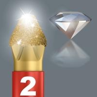 WERA Pozidriv PZ 1 Diamond Coated BDC / PZ 1 X 25 Kruis-bit