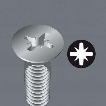 WERA Pozidriv PZ 2 Diamond Coated BDC / PZ 2 X 25 Kruis-bit