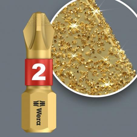 WERA Pozidriv PZ 3 lang Diamond Coated BDC / PZ 3 X 50 Kruis-bit