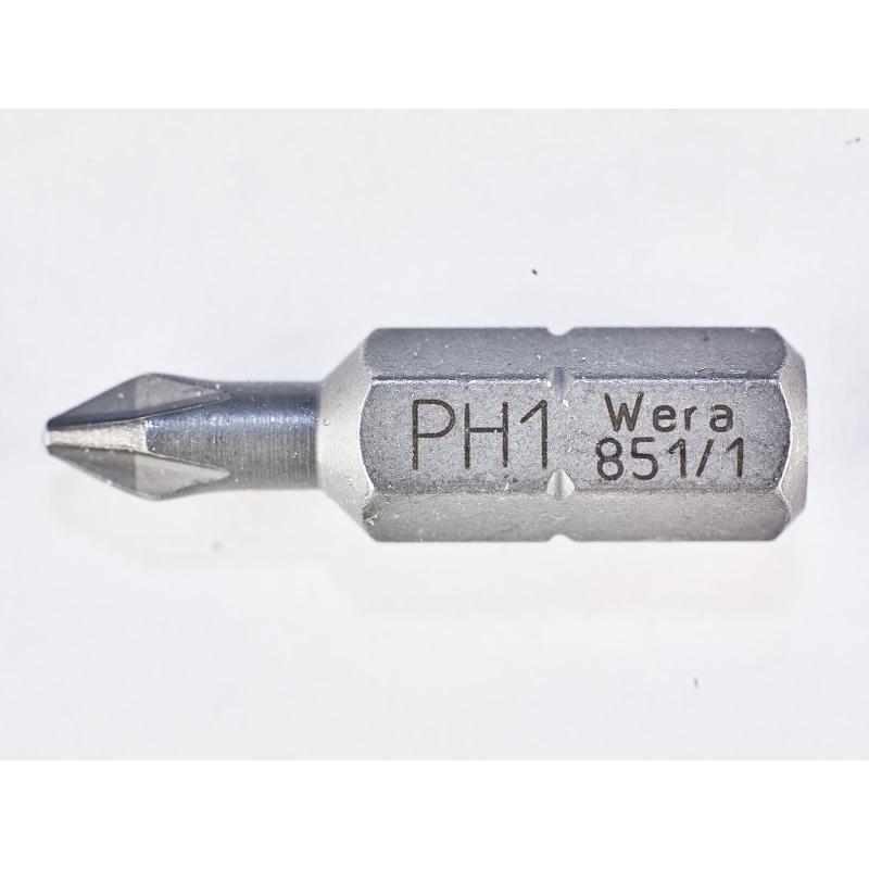 WERA Kruiskop PH 1 Z-bits 851/1 Phillips