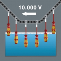 WERA Dop-schroevendraaier/buitenzeskant VDE Kraftform Plus- Series 100