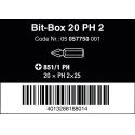 WERA Bit-Box 20x Kruiskop PH 2 Z-bits