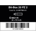 WERA Kruiskop PZ 2 Z-bits 855/1 Phillips