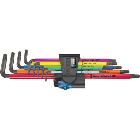 WERA TORX®-sleutelset extra lang HF 967/9 TX XL Multicolour