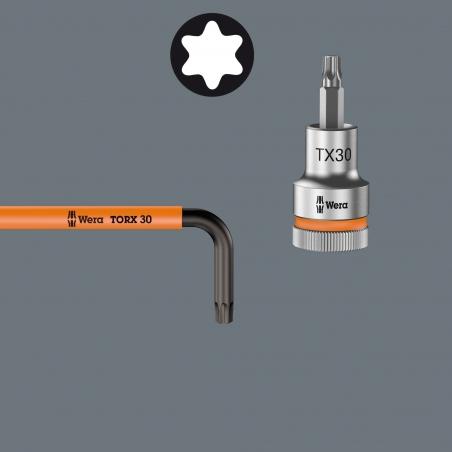 WERA TORX®-sleutelset extra lang 967/9 TX XL HF