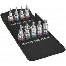 WERA 8767 C TORX® HF 1 Zyklop Bitdoppen set TORX® kort, met vasthoudfunctie