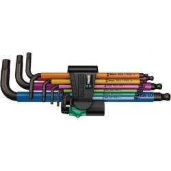 WERA 950 SPKL/9 SM N SB Multicolour Stiftsleutelset, metrisch, BlackLaser