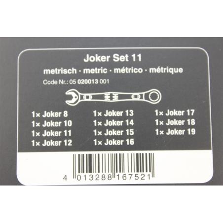 WERA  Joker Steek -en ratelsleutel-set , 11-delig