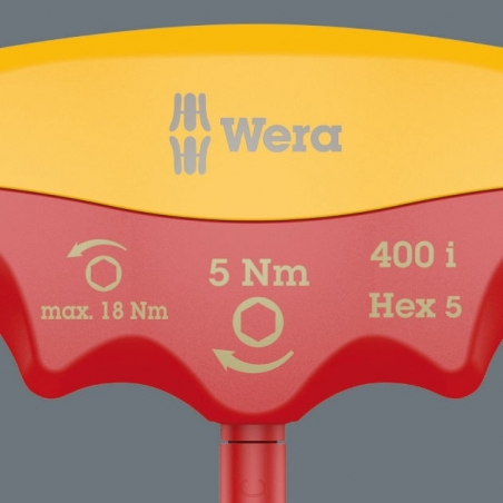 WERA 400 i VDE Hex Draaimoment 4.0 Nm T-Grip Inbus 4.0x100 mm
