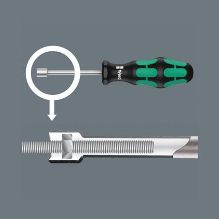 WERA 395-dop schroevendraaierHolle Schacht 5.0 mm HO Kraftform Plus Serie 300
