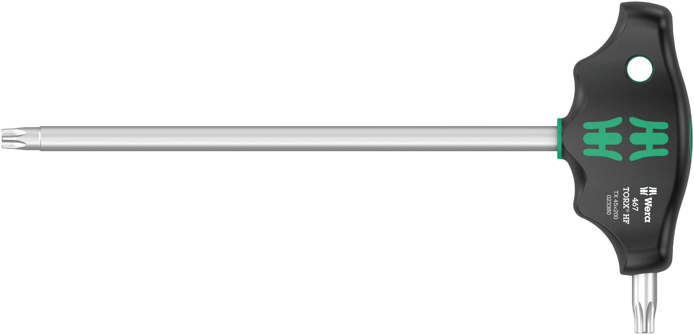 WERA 467 TORX® HF T-greep-schroevendraaier met vasthoudfunctie