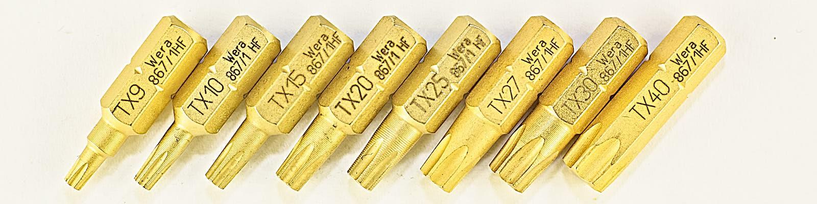 TORX® HF Bits met vasthoudfunctie